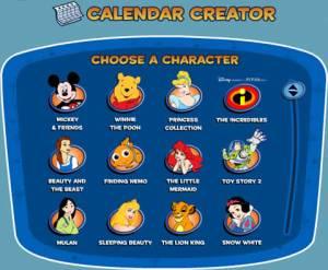 Calendarios de Disney