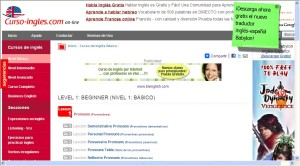 Web Curso de Inglés